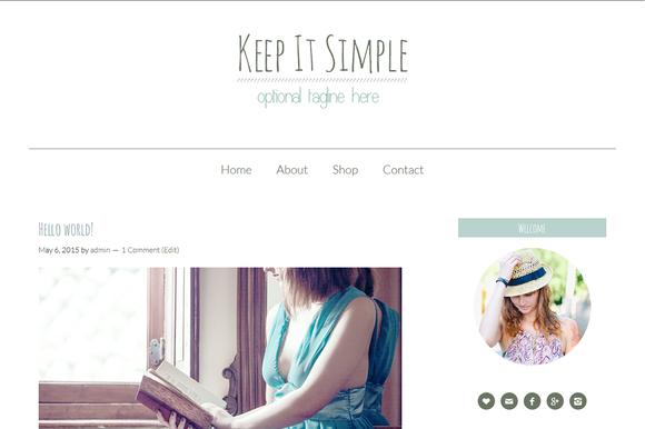 Keep It Simple Genesis Child Theme