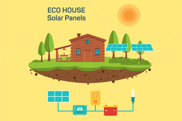 Vector Eco Green House