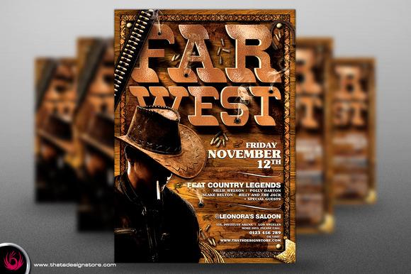 Western Farwest Flyer Template