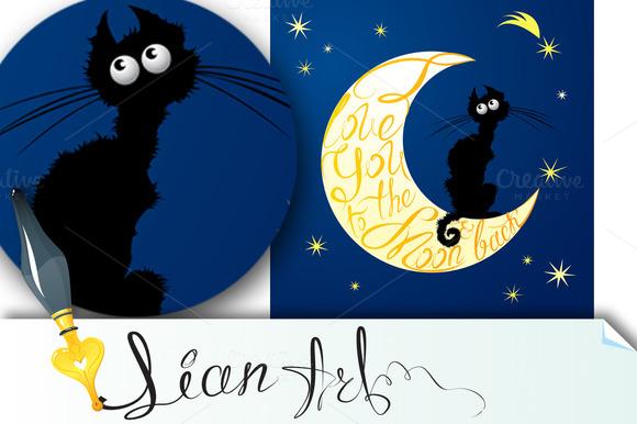 Cat On Moon