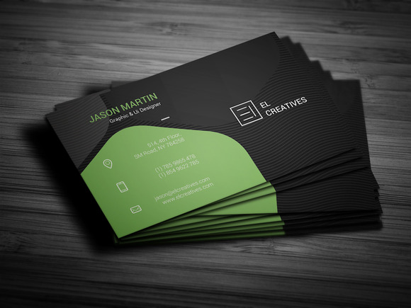 Creative Green Business Card