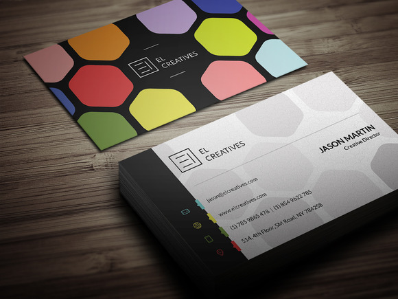 Creative Colorful Business Card