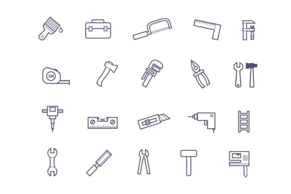 20 Tools And Hardware Icons