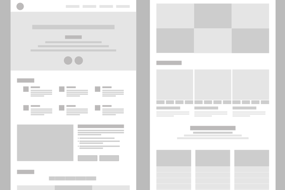 Desktop Wireframe Layout Mockup