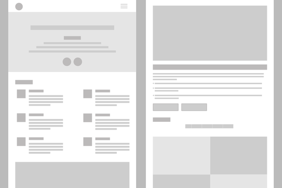 Tablet Wireframe Layout Mockup
