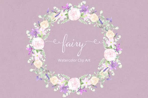 Fairy Watercolor Clip Art