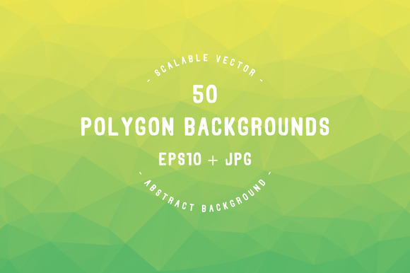 50 Polygon Backgrounds