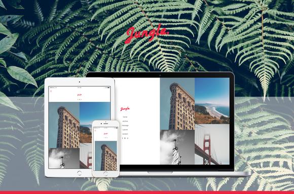 Jungle Responsive Grid Tumblr Theme