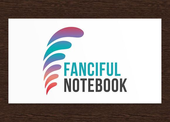 Fanciful Notebook Logo PSD