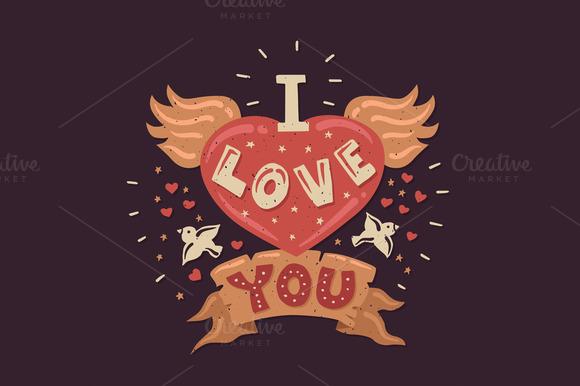 I Love You Vintage Poster