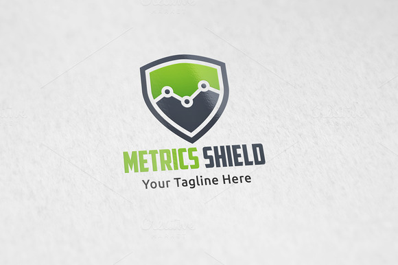 Metrics Shield Logo Tempalte
