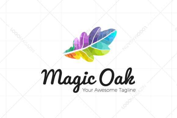 Leaf Oak Logo Template