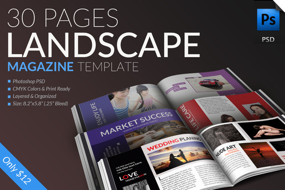 Landscape Magazine Template-30Pages