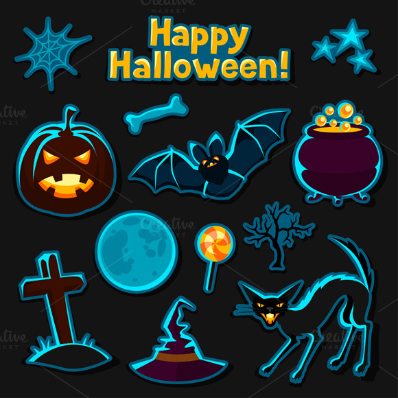 Happy Halloween Sticker Set