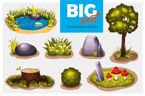 Big Set Of Environment Elements