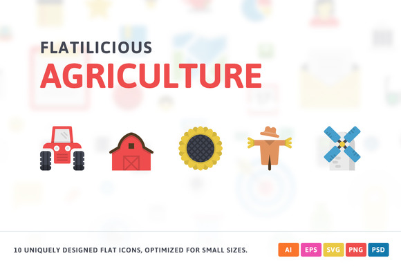 Agriculture Flat Icons