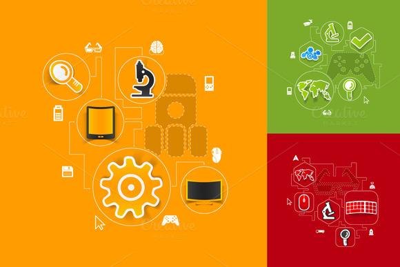 9 Technology Sticker Infographics