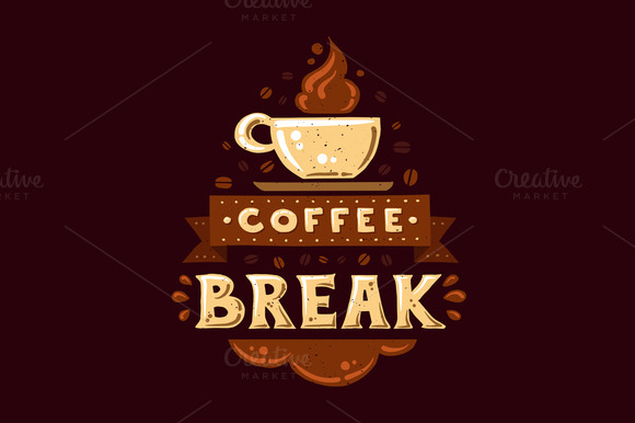 Coffee Break VintagePoster