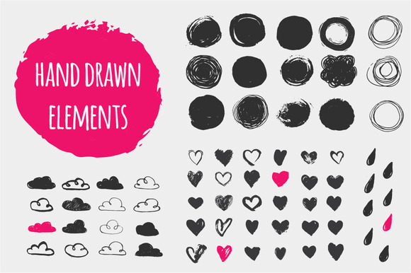 Hand Drawn Shapes Set