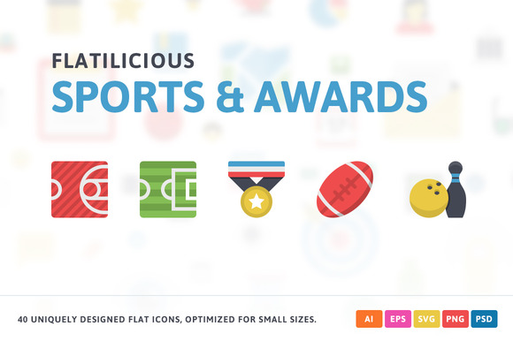 Sport Awards Flat Icons