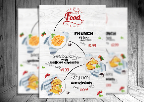 Lime Food PSD Flyer