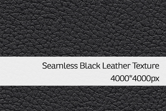 Seamless Black Leather Texture