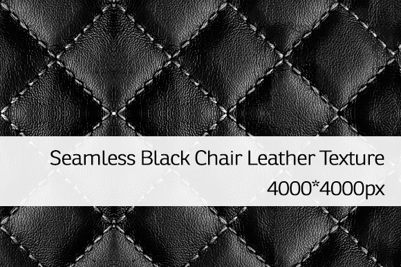 Seamless Black Chair Leather Texture