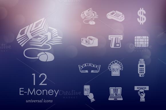 12 E-money Icons