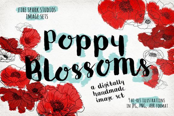 Poppy Blossoms Image Set