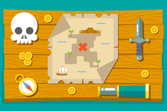 Pirate Adventure Treasure Map