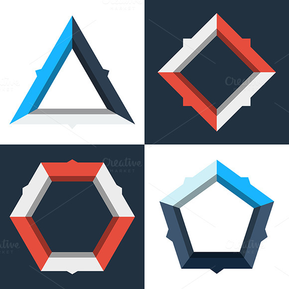 Modern Geometric Infographics Diagr