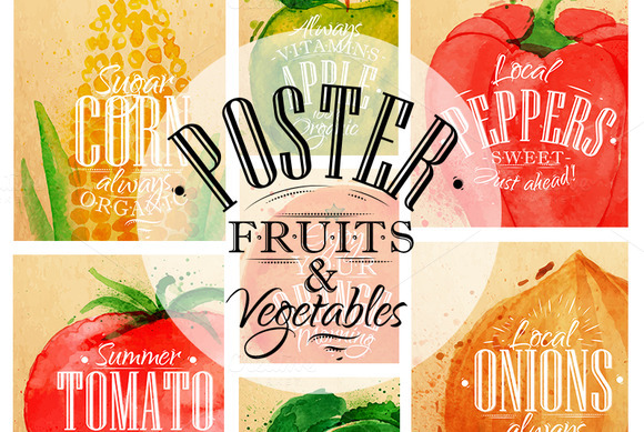 Poster Fruits Vegetables