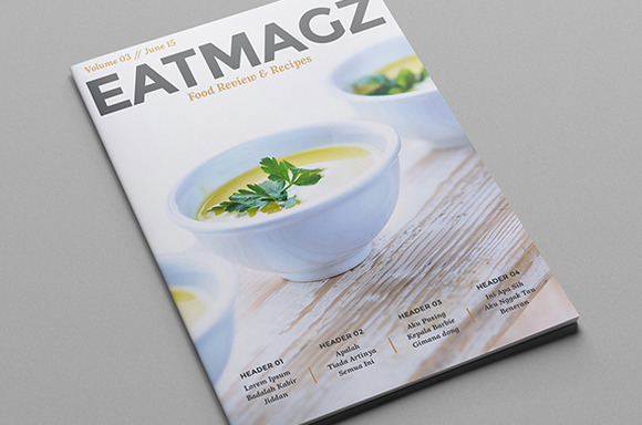 Eat Magz Magazine Template