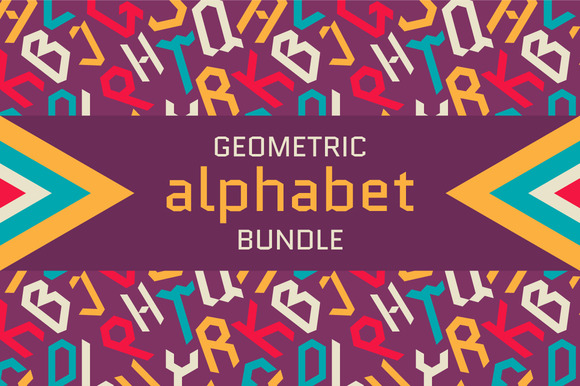 Geometric Triangular Alphabet Bundle
