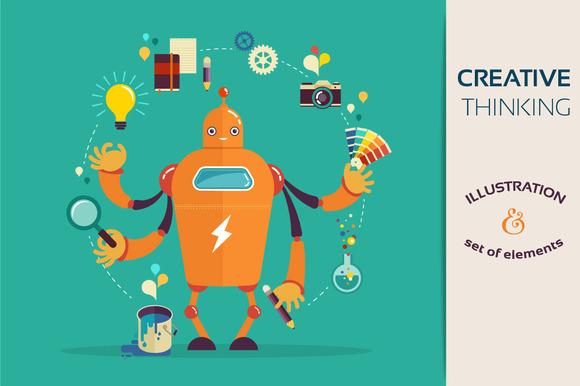 Creative Thinking Robot Designer