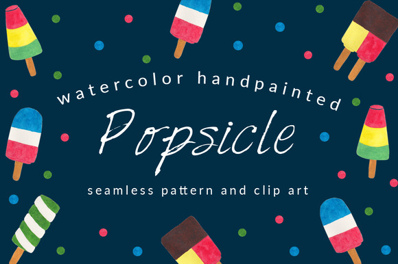 Popsicles Pattern And Clip Art Pack