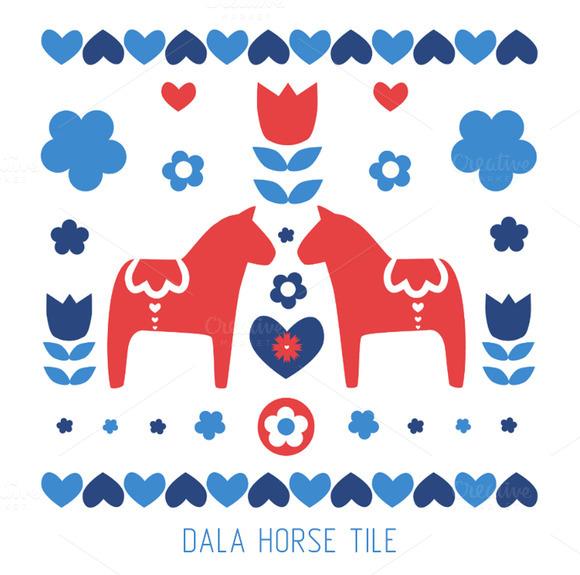 Dala Horse Tile