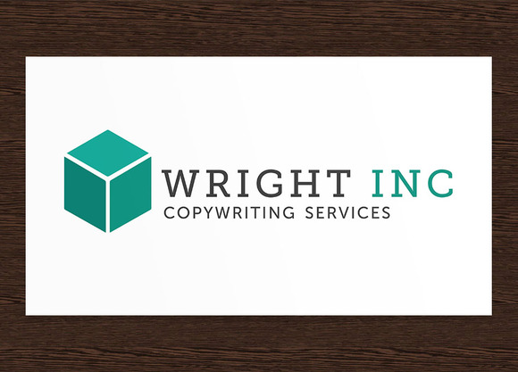 Wright Inc Copywriter Logo PSD