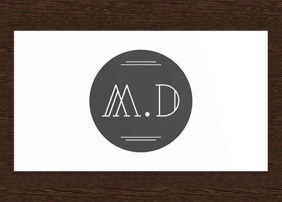 M.D Minimalist Logo PSD
