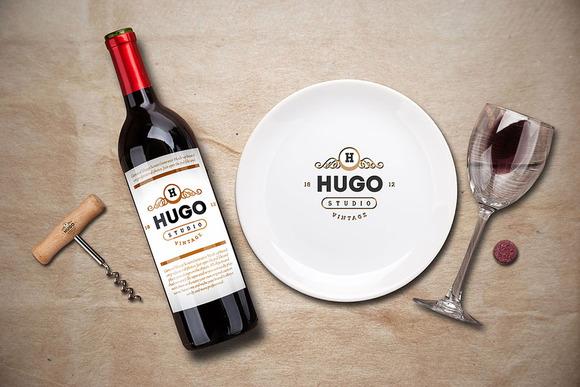 Free Wine Service Menu Creator Mock-