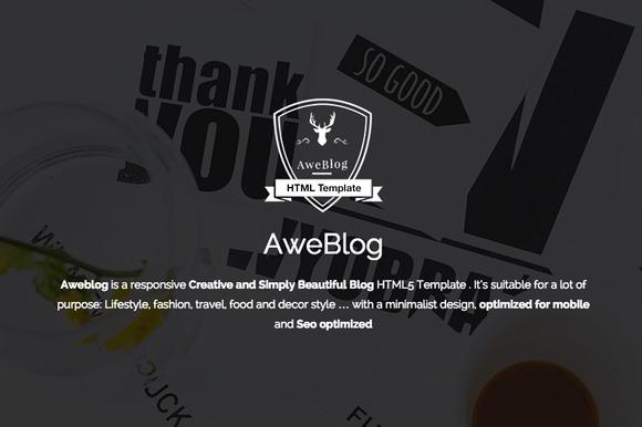 Aweblog Blog HTML Template