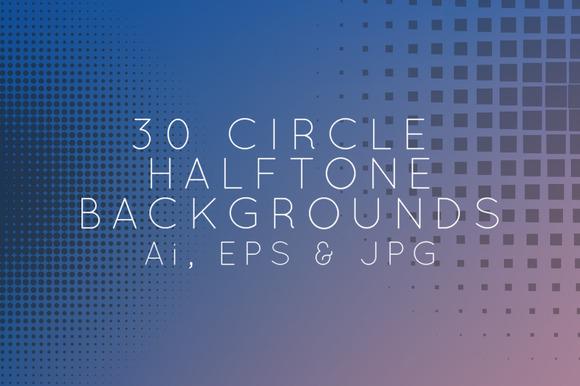 30 Circle Halfrones