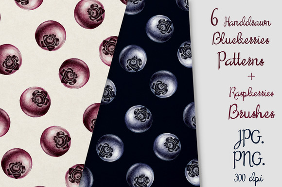6 Blueberries Patterns Brash
