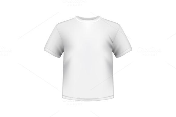 White Round Neck T-shirts Male Isola