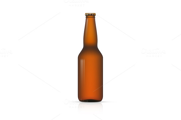 Blank Bottle On White Background