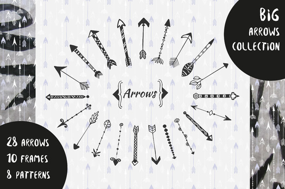 Big Arrows Collection Hand-drawn