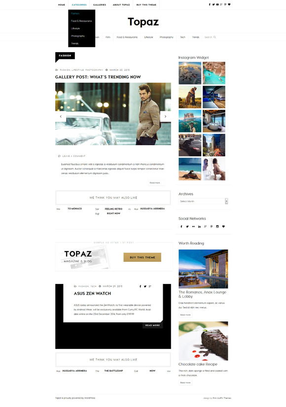 Topaz Magazine WordPress Theme