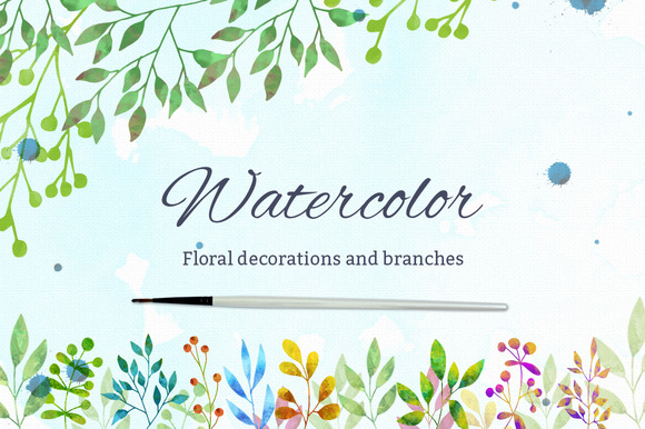 Watercolor Floral Decorations