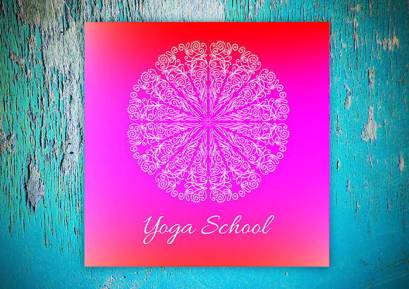 Yoga School Decorative Card