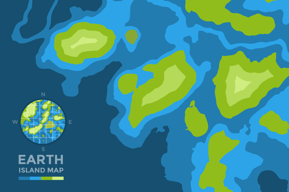 Global Earth Vector Map Background